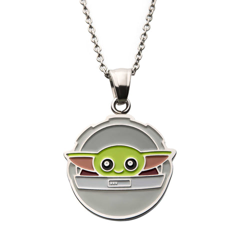 Star Wars Mandalorian The Child Baby Yoda in Carriage Pendant Necklace