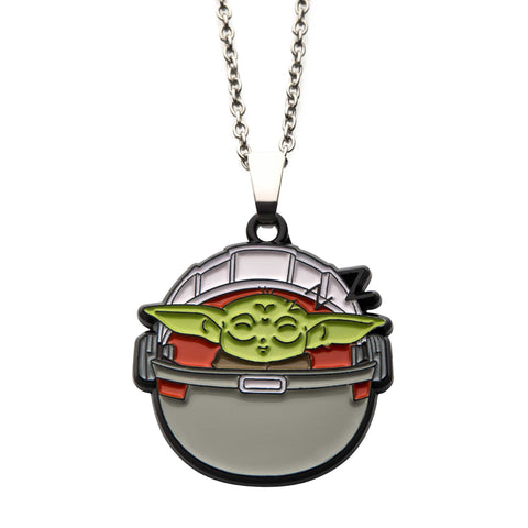 Star Wars Mandalorian The Child Baby Yoda Sleeping Pendant Necklace