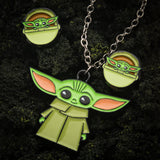 Star Wars Mandalorian The Child Pendant Necklace Set