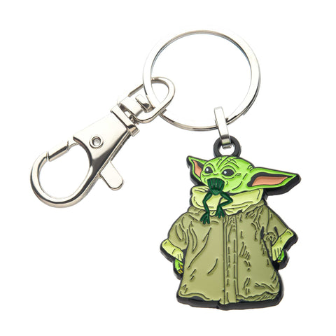 Star Wars Mandalorian The Child Eating Frog Key Chain
