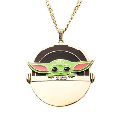 Star Wars Mandalorian The Child  Gold Plated Pendant Necklace