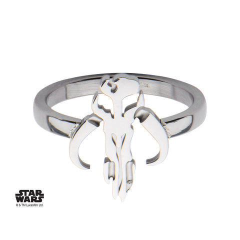 Star Wars Cut Out Mandalorian Symbol Petite Ring