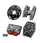 Star Wars Imperial Galactic Empire and Tie Fighter Enamel Lapel Pin Set