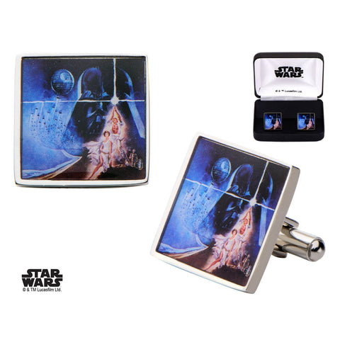 Star Wars Poster Printed Square Cufflinks