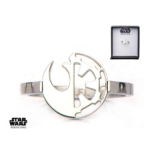 Star Wars Rogue One Cut Out Rebel Alliance/Galactic Empire Symbol Ring