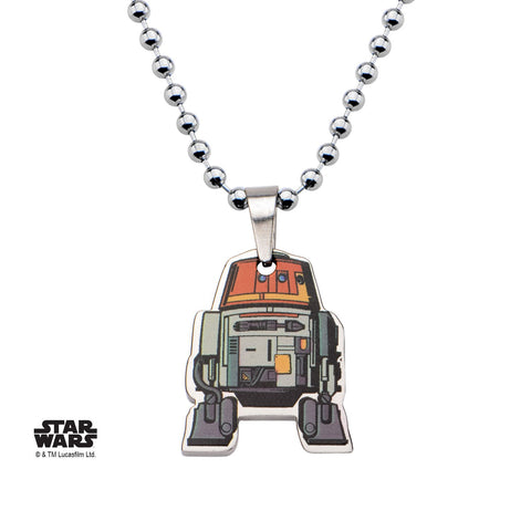 Star Wars Rebels Cut Out Graphic Chopper Kids Pendant Necklace