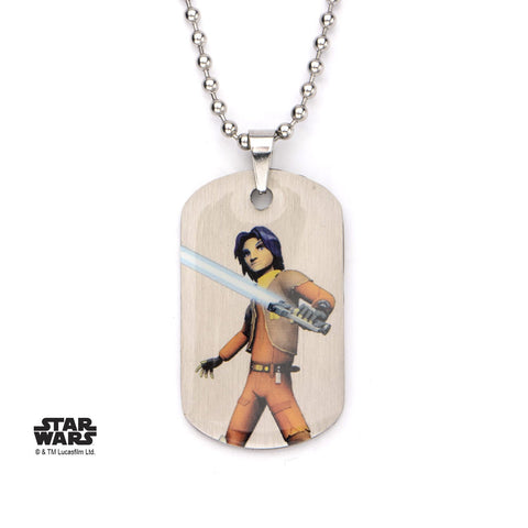 Star Wars Rebels Ezra Kids Dog Tag Pendant Necklace