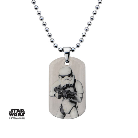 Star Wars Rebels Graphic Stormtrooper Kids Dog Tag Pendant Necklace