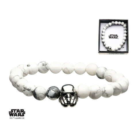 Star Wars Stormtrooper with Howlite Beads Bracelet