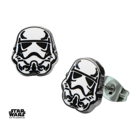 Star Wars Stormtrooper Enamel Stud Earrings