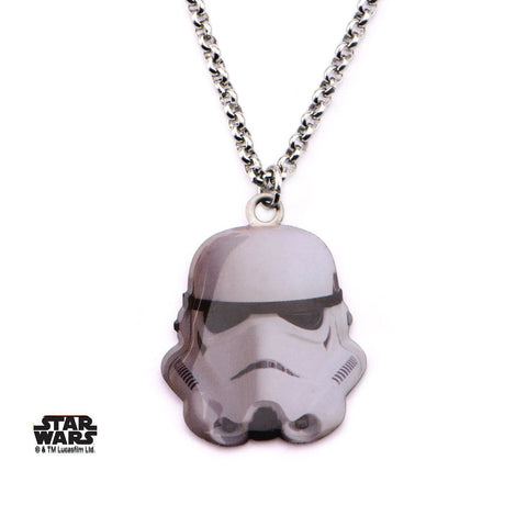 Star Wars Cut Out Stormtrooper Pendant Necklace