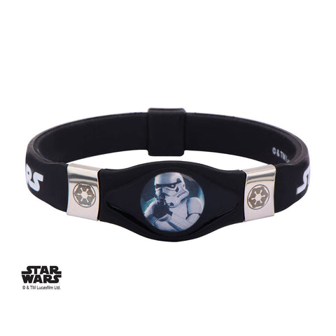 Star Wars Stormtrooper and Galactic Empire Symbol Kids Silicone Bracelet