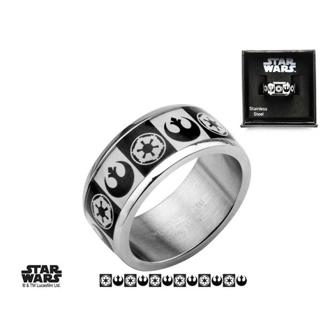 Star Wars Galactic Empire and Rebel Alliance Symbol Ring