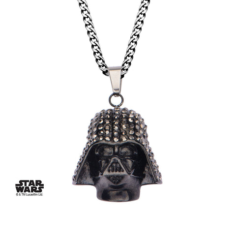 Star Wars Darth Vader with Clear Gem Pendant Necklace