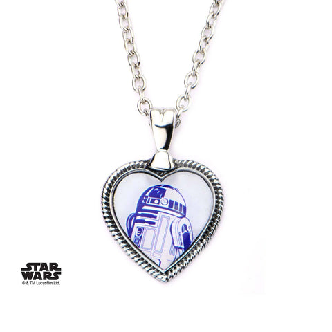 Star Wars R2-D2 Heart Pendant Necklace