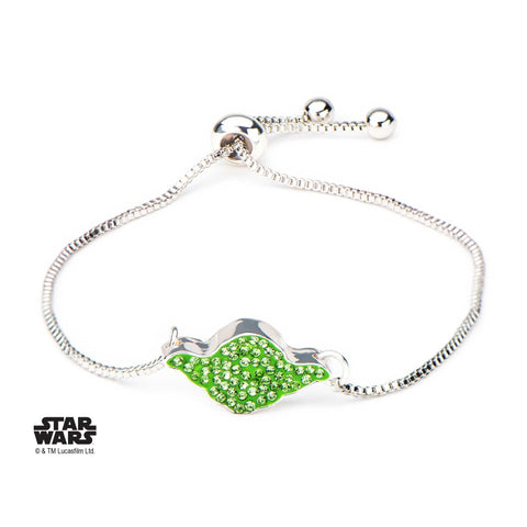 Star Wars Yoda Head Gem Bolo Bracelet