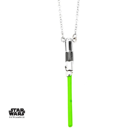 Star Wars Yoda Lightsaber Pendant Necklace