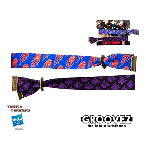 Transformers Autobot and Decepticon Groovez Bracelet Set