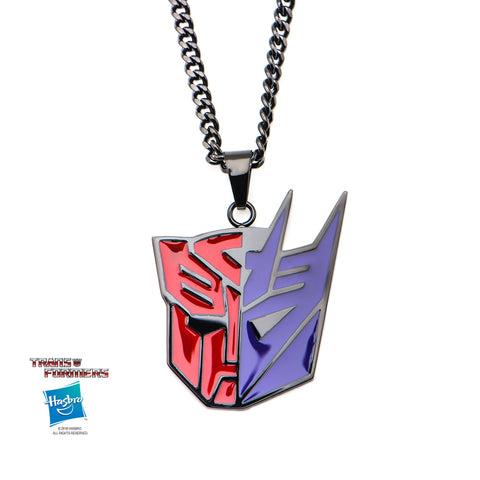 Transformers Autobot and Decepticon Pendant Necklace