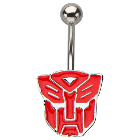 Transformers Red Autobot Logo Fixed Navel