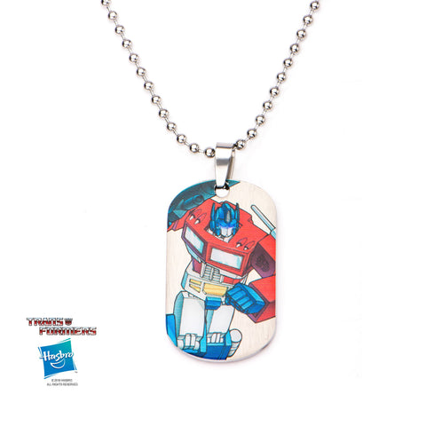 Transformers Robot Car Dog Tag Pendant Necklace