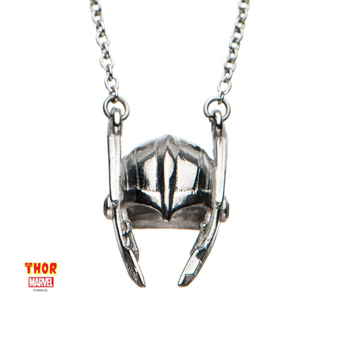 Marvel Cut Out Thor Helmet Necklace
