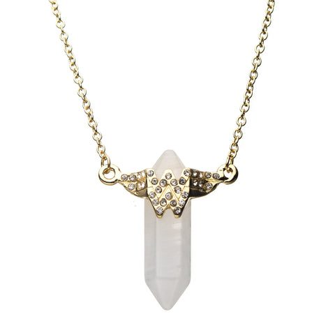 DC Comics Wonder Woman Logo with Crystals Pendant Necklace