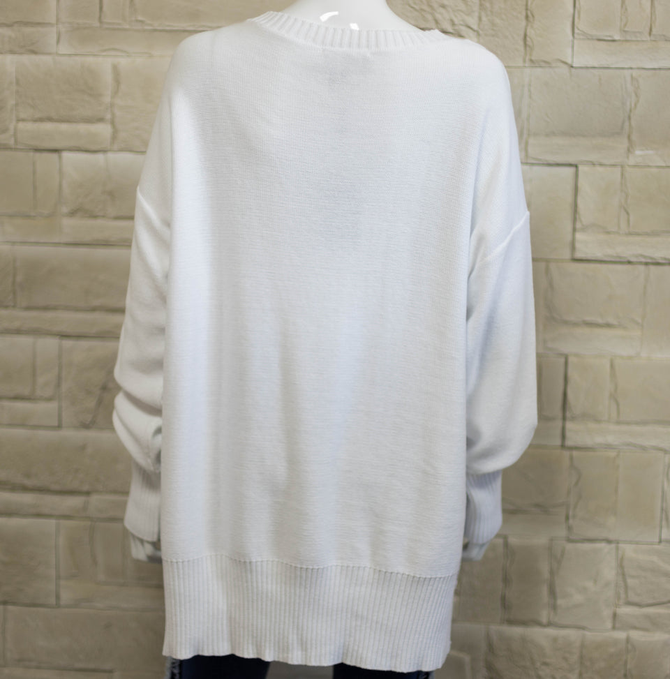 DKNY / Pull Blanc en Coton / Taille L / Ref 80445