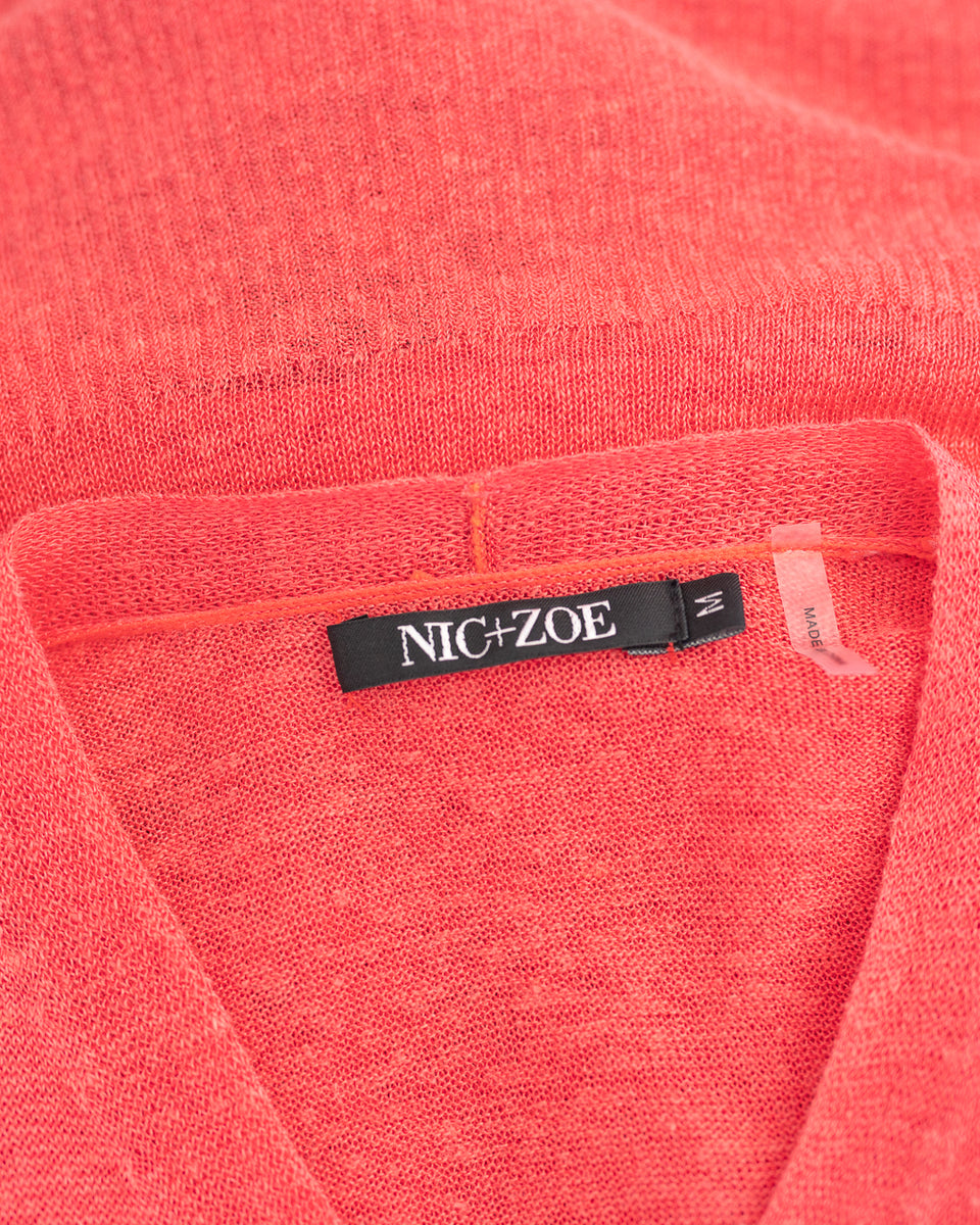 NIC + ZOE / Cardigan cache Coeur / Taille M / Ref 80255