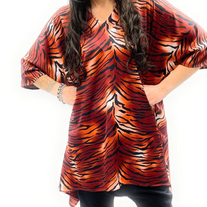 Robe tunique BOSS tigre orange