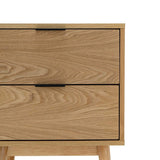 Breeze Bedside Tables Jackob Bedside Table, Oak