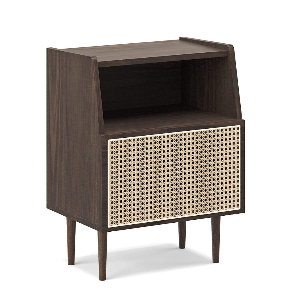 Breeze Bedside Tables Kendall Bedside Table, Walnut