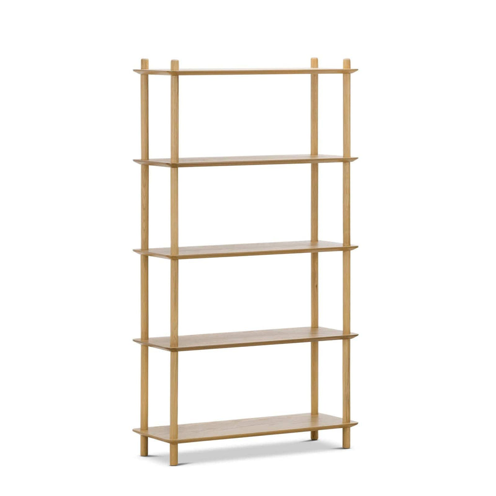 Breeze Shelf Malia Tall Bookshelf, Oak