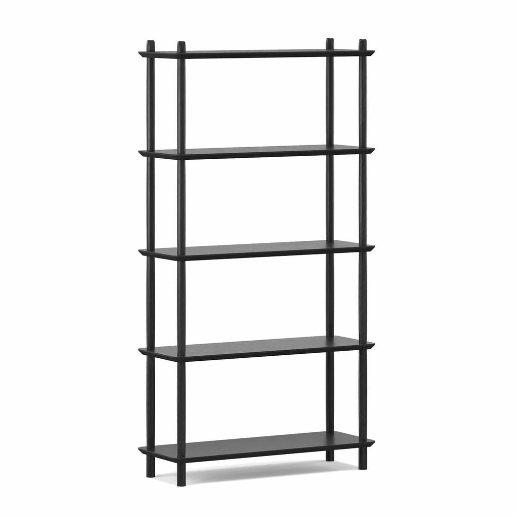 Breeze Shelving Malia Tall Bookshelf, Black