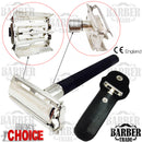 YNR Butterfly Safety Razor & 10 Double Edge Blades Classic Shaving Vintage - Olympia Beauty Online Store