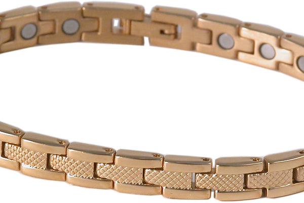 SBP1193 Ladies Stainless Steel Gold Plated Magnetic Bracelet - Olympia Beauty Online Store
