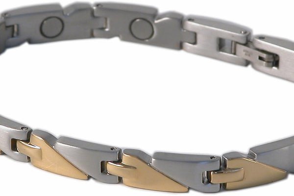SBP1083 Ladies Stainless Steel Silver & Gold Magnetic Braclet - Olympia Beauty Online Store