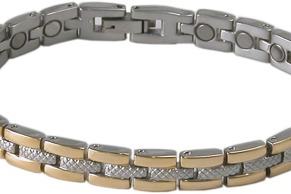 SBP 1063 Ladies Stainless Steel Silver/Gold Mangetic Bracelet - Olympia Beauty Online Store