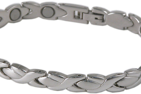 SBP0923 Ladies Stainless Steel Silver Mangetic Bracelet - Olympia Beauty Online Store