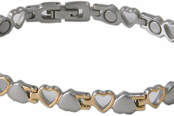 SBP 0823 Stainless steel Silver & Gold Magnetic Bracelet - Olympia Beauty Online Store