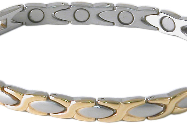 SBP0963 Ladies Stainless Steel Silver/Gold Mangetic Bracelet - Olympia Beauty Online Store