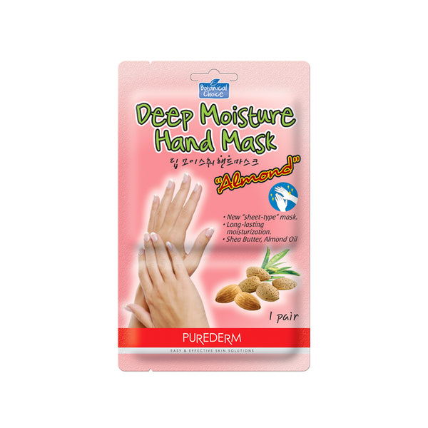 Purederm - Botanical Choice's Deep Moisture Hand Mask (Almond & Shea Butter) - Olympia Beauty Online Store
