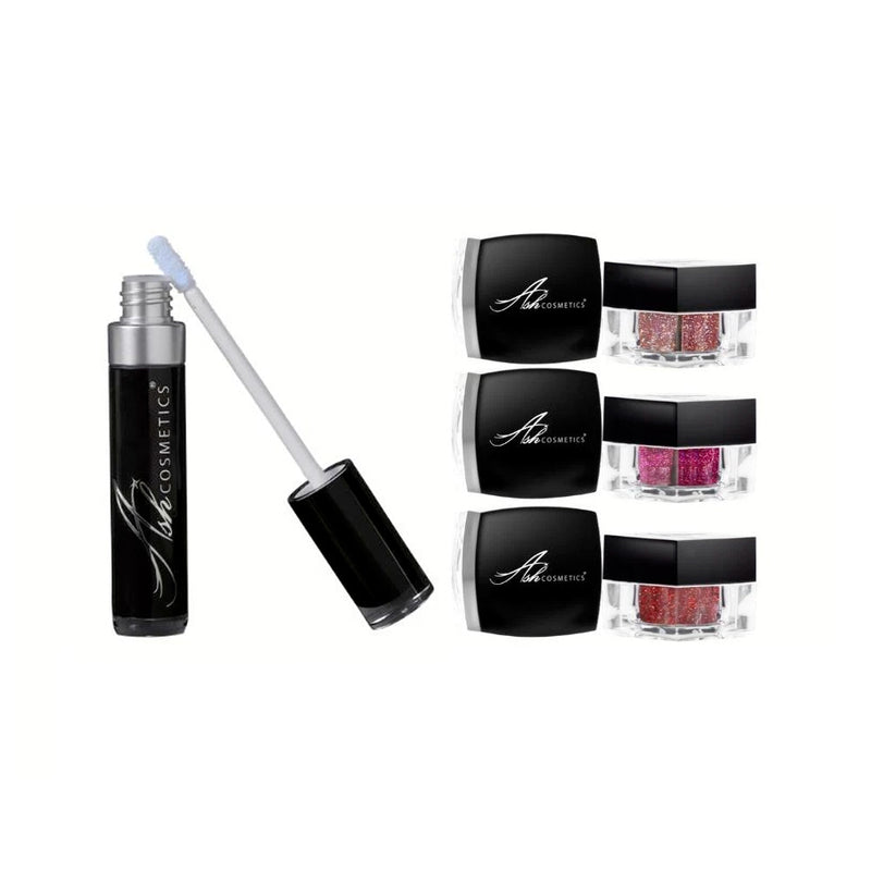Glitter Lip Gift Set - 3D Glitters Plus Waterproof Adhesive - Olympia Beauty Online Store
