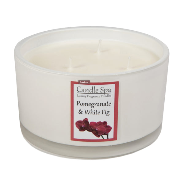 3-Wick Candle - Pomegranate & White Fig - Olympia Beauty Online Store