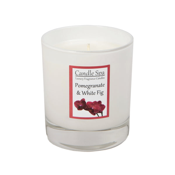 Pomegranate & White Fig Luxury Candle in 30 Cl Tumbler - Olympia Beauty Online Store