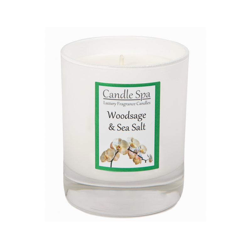 Woodsage & Sea Salt Luxury Candle in 20 Cl Tumbler - Olympia Beauty Online Store