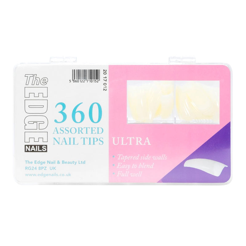 THE EDGE ULTRA NAIL TIPS - BOX OF 360 ASSORTED TIPS - Olympia Beauty Online Store