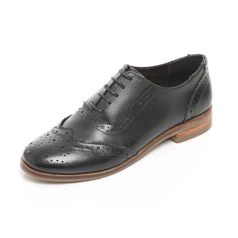L324A BROGUE SHOE BLACK - Olympia Beauty Online Store