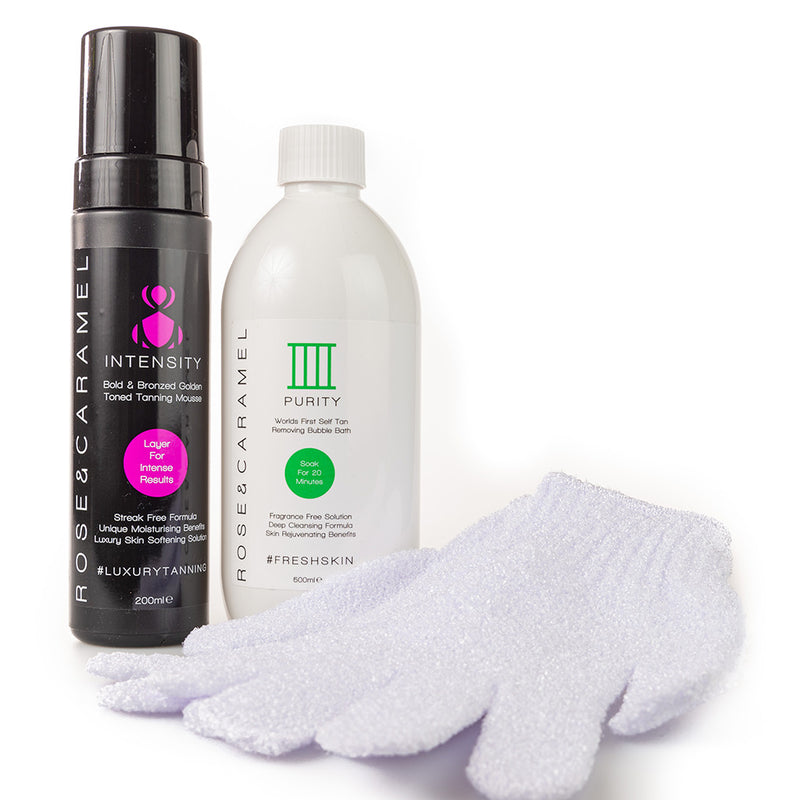 Intensity Mousse & Purity Self Tan Removing Bubble Bath Twin Pack - Olympia Beauty Online Store