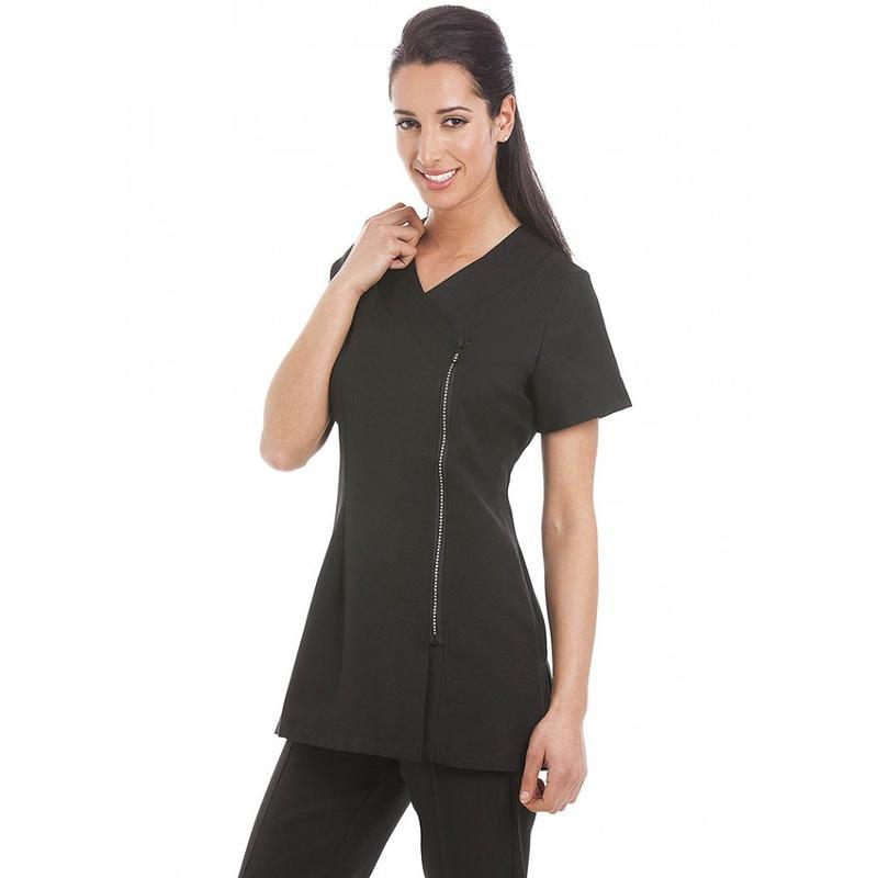 Miami Tunic Black with Diamante Zip - Olympia Beauty Online Store